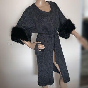 😍KENAR Faux Fur Cuff Alpaca/Wool Vest😍